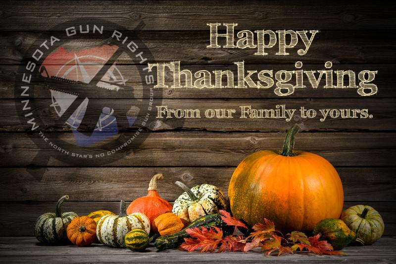Happy Thanksgiving from Minnesota Gun Rights!